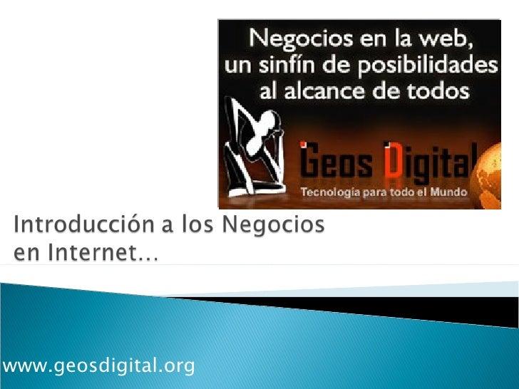 Negocios y Servicios en Internet