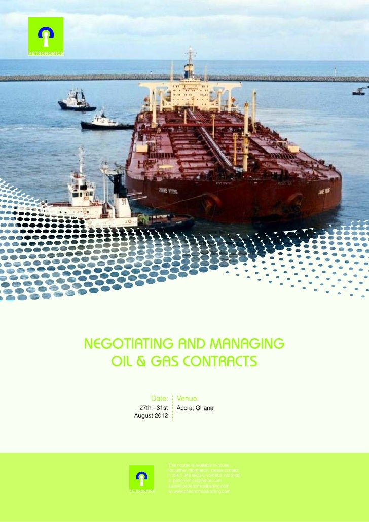 Negotiating and managing oil & gas contracts