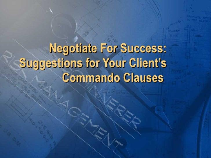 Negotiating Client Clauses