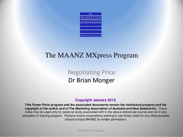 Negotiating price2