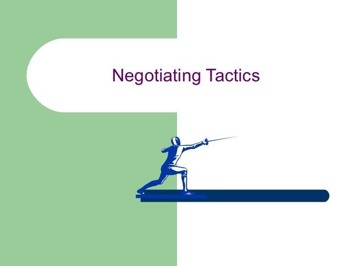 Negotiating Tactics