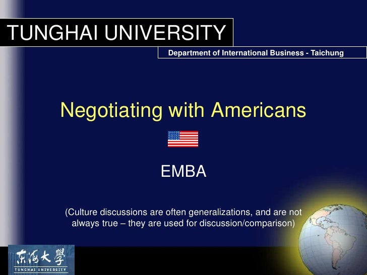 Negotiating with Americans [SAV Lecture]