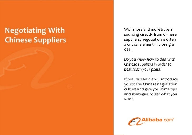 With more and more buyers                                                     sourcing directly from Chinese              ...