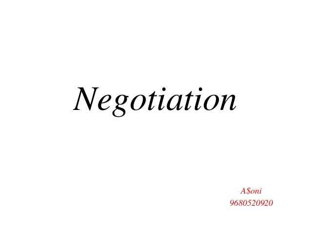 Negotiation A$oni 9680520920