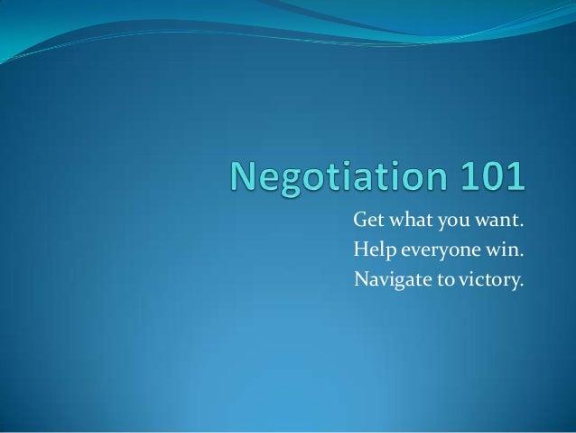 Negotiation 101 Part 1