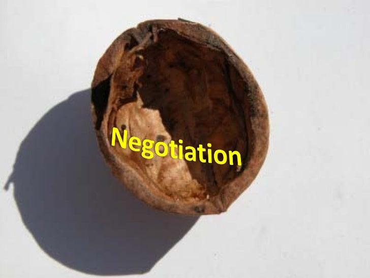 Negotiation course in a nutshell