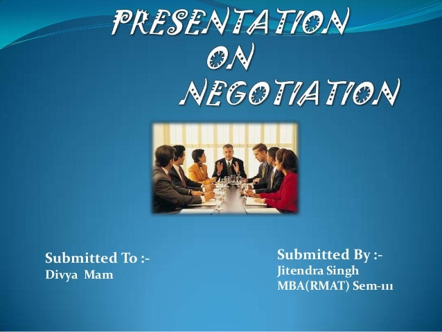 Negotiationppt jitu