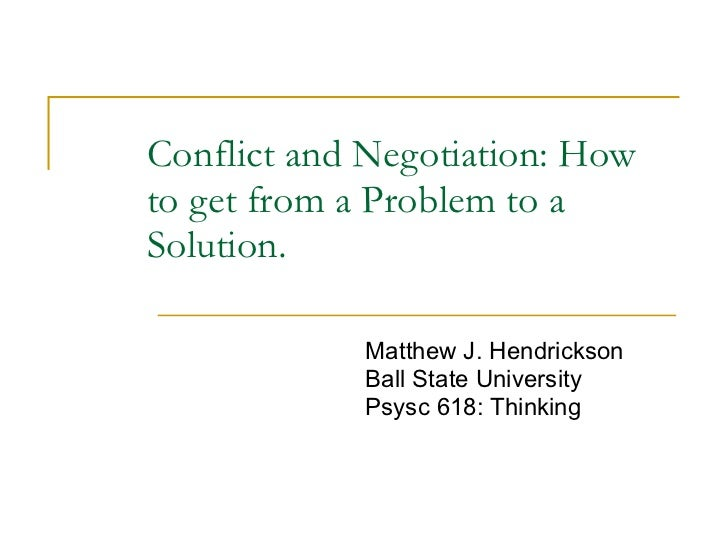 Negotiation And Conflict Management Essays (Examples)