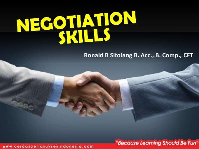 Negotiation Skill (Introduction)