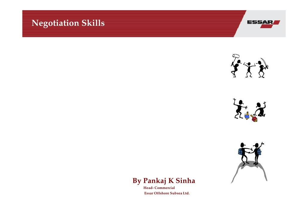 Negotiation Skills-Pankaj Sinha