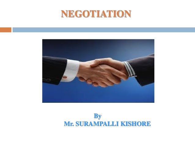 NEGOTIATIONByMr. SURAMPALLI KISHORE