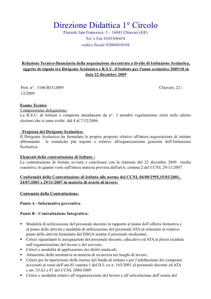Direzione Didattica 1° Circolo                           Piazzale San Francesco, 3 – 16043 Chiavari (GE)                  ...
