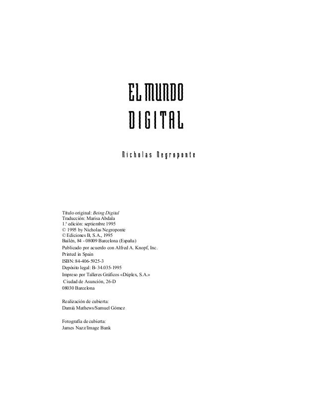 Negroponte, nicholas   el mundo digital