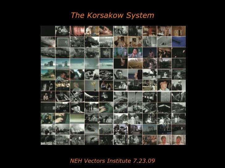 NEH Vectors Korsakow workshop