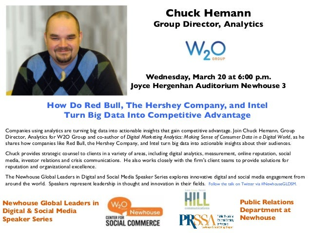 Chuck Hemann 	                                                                     Group Director, Analytics	             ...