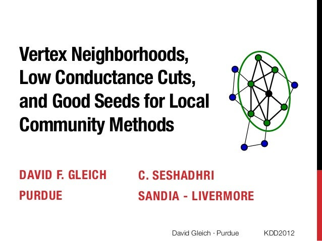 Vertex neighborhoods, low conductance cuts, and good seeds for local community methods