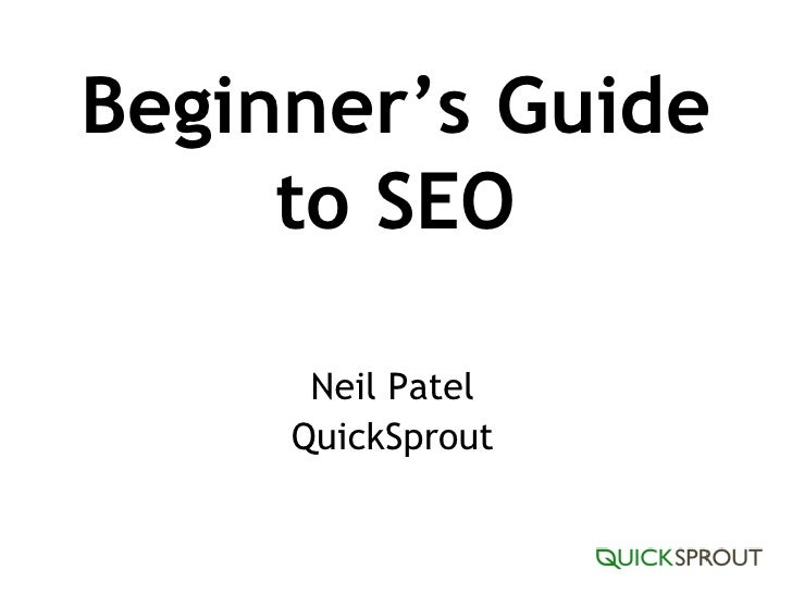 Beginner's Guide to SEO Neil Patel QuickSprout