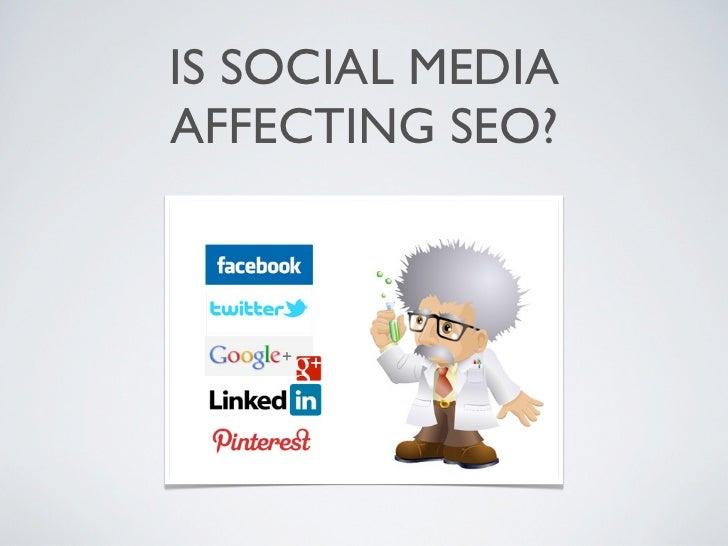 Neil Pursey - Is Social Media affecting SEO