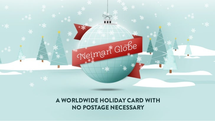 A WORLDWIDE HOLIDAY CARD WITH    NO POSTAGE NECESSARY