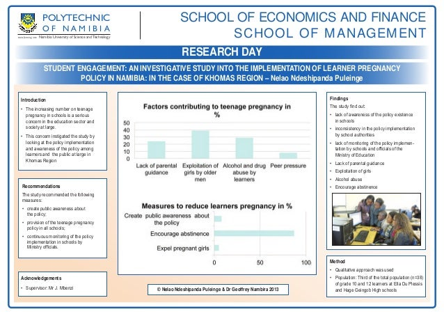 Student Engagement: an investigative study into the implementation of learner pregnancy policy in Namibia: in the case of Khomas Region by Nelao Ndeshipanda & Dr Nambira