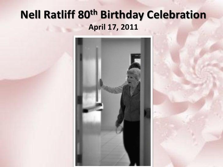 Mom's 80th Birthday Celebration, April 17, 2011