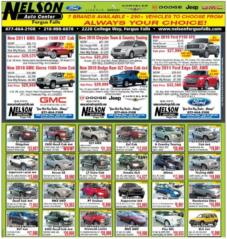 Nelson Auto Center Dodge Specials Fergus Falls MN