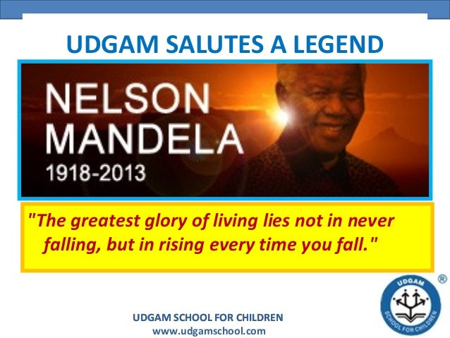 "UDGAM SALUTES A LEGEND  ""The greatest glory of living lies not in never falling, but in rising every time you fall.""  UDGA..."