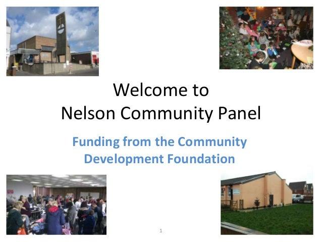 Nelson community panel presentation