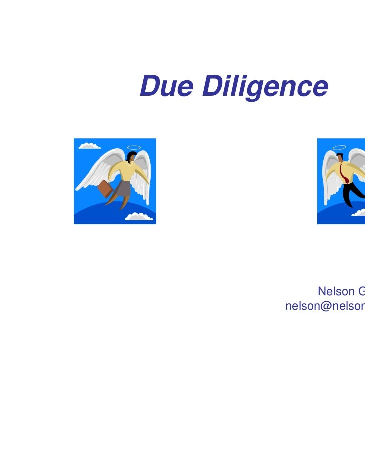 Due Diligence                Nelson Gray          nelson@nelsongray.com