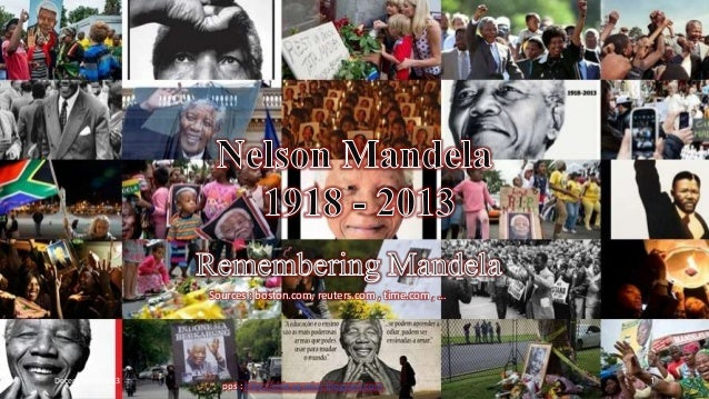 Nelson Mandela : 1918 - 2013 by le-vinhbinh  Sources : boston.com, reuters.com , time.com , …  December 9, 2013  pps : htt...