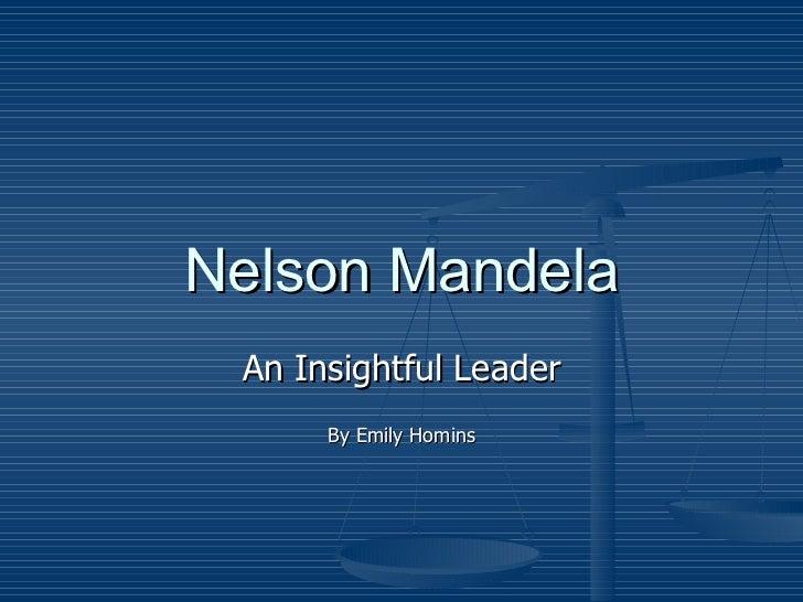 Nelson mandela leadership presentation E Homins