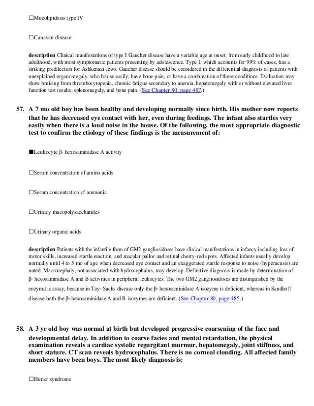 Nelson pediatrics review (mcqs) 19ed