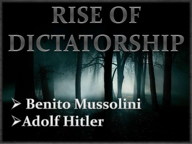 What led to the rise of dictatorship after World War I?