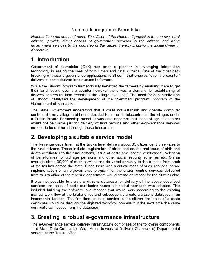 Nemmadi program in karnataka july2007