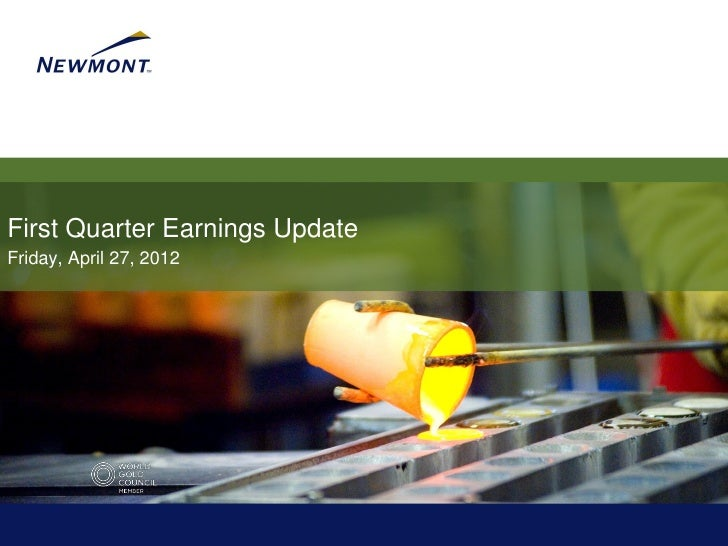 First Quarter Earnings Update