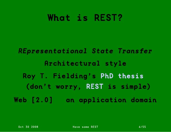 Rest phd thesis