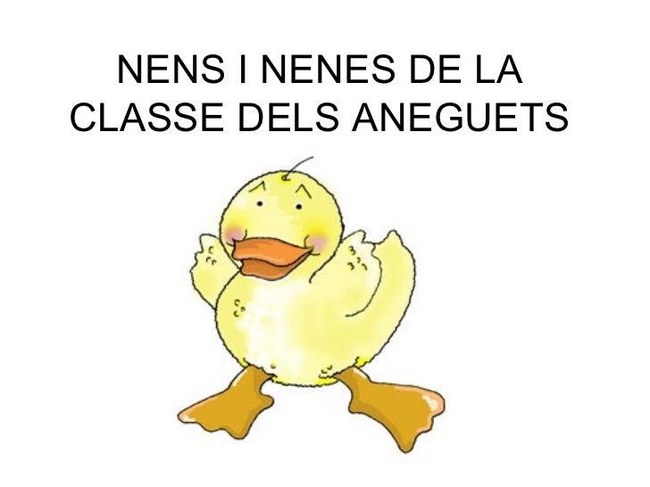NENS I NENES DE LA CLASSE DELS ANEGUETS