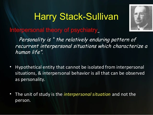 sullivan s interpersonal model advantages and disadvantages Part ii, sullivan's interpersonal theory of psychiatry, is in many ways the  the  juvenile found the various advantages and disadvantages of being superior,.