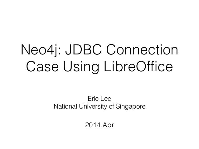 Neo4j: JDBC Connection Case Using LibreOffice