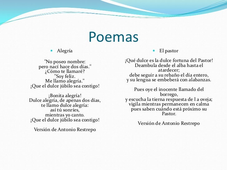 Poemas Del Neoclasicismo