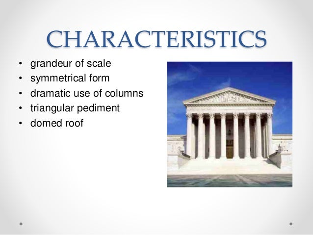 History neoclassical architecture for Baroque architecture characteristics list