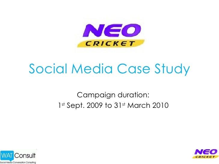 Social Media Marketing Case Study: Neo Cricket