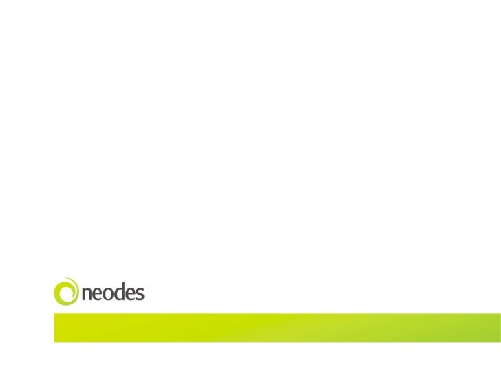 Neodes  Interac-on  Design  case  studies  /  2010