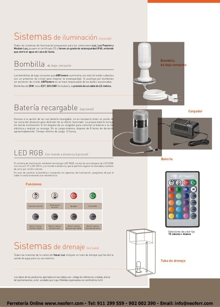 Sistemas de iluminación                                                                 (incluido)   Todos los sistemas de...