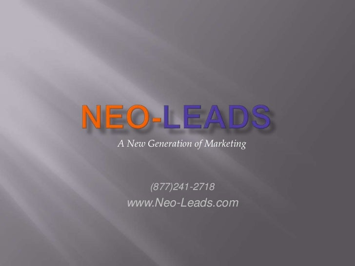 Neo Leads Mailing List Presentation
