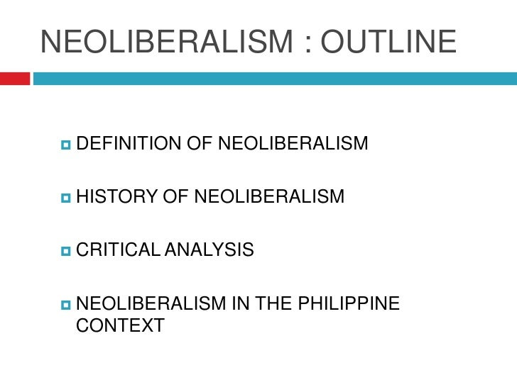 """neo liberalism One of the most accusatory and negative words currently in use in various  politically """"progressive"""" circles is that of """"neo-liberalism"""" to be."""