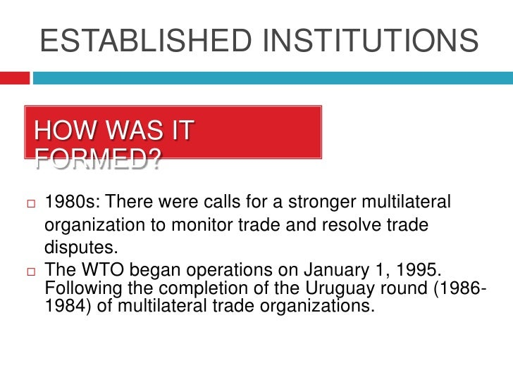 Multilateral trading system define