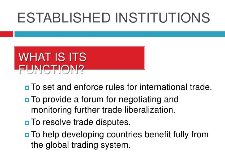 Meaning of multilateral trading system