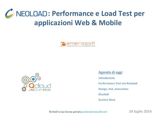 :  Performance  e  Load  Test  per   applicazioni  Web  &  Mobile  ...