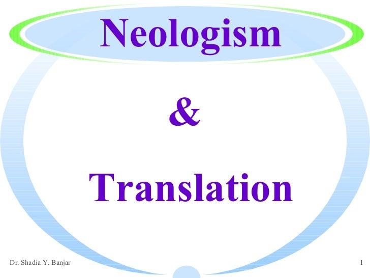 Translation Neologism &
